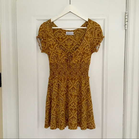 Lovely mustard dress from Urban Outfitters